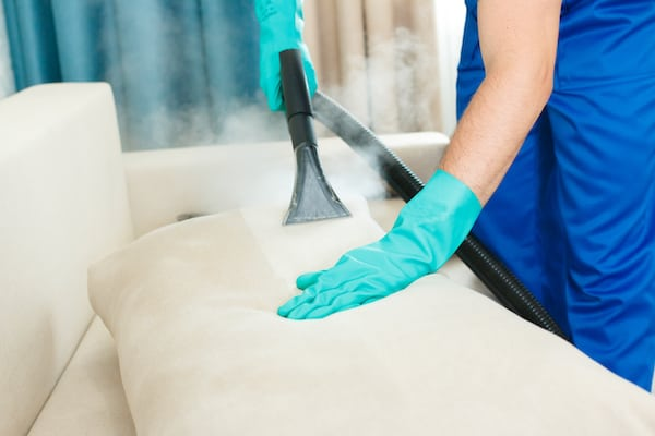 Steam Cleaning a Sofa